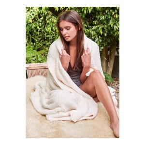 Cozychic Throw - Stone White