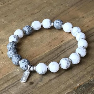Howlite Essential Oil Bracelet